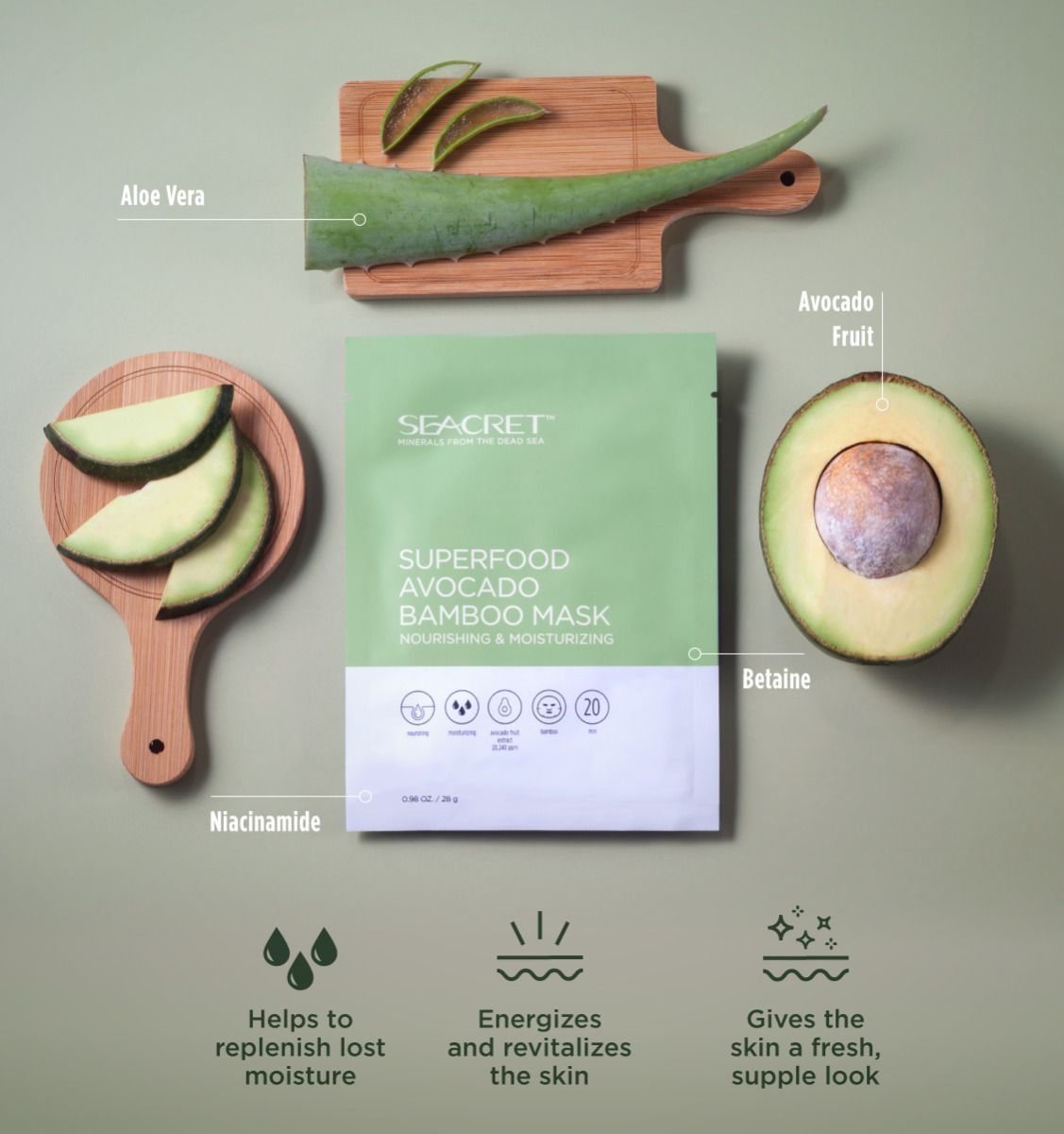 SuperFood Avocado Bamboo Mask