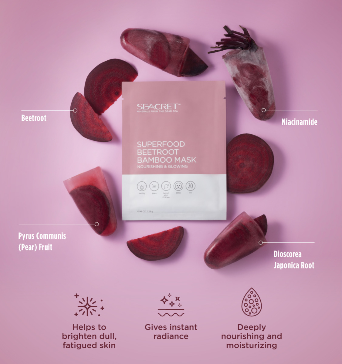 SuperFood Beetroot Bamboo Mask