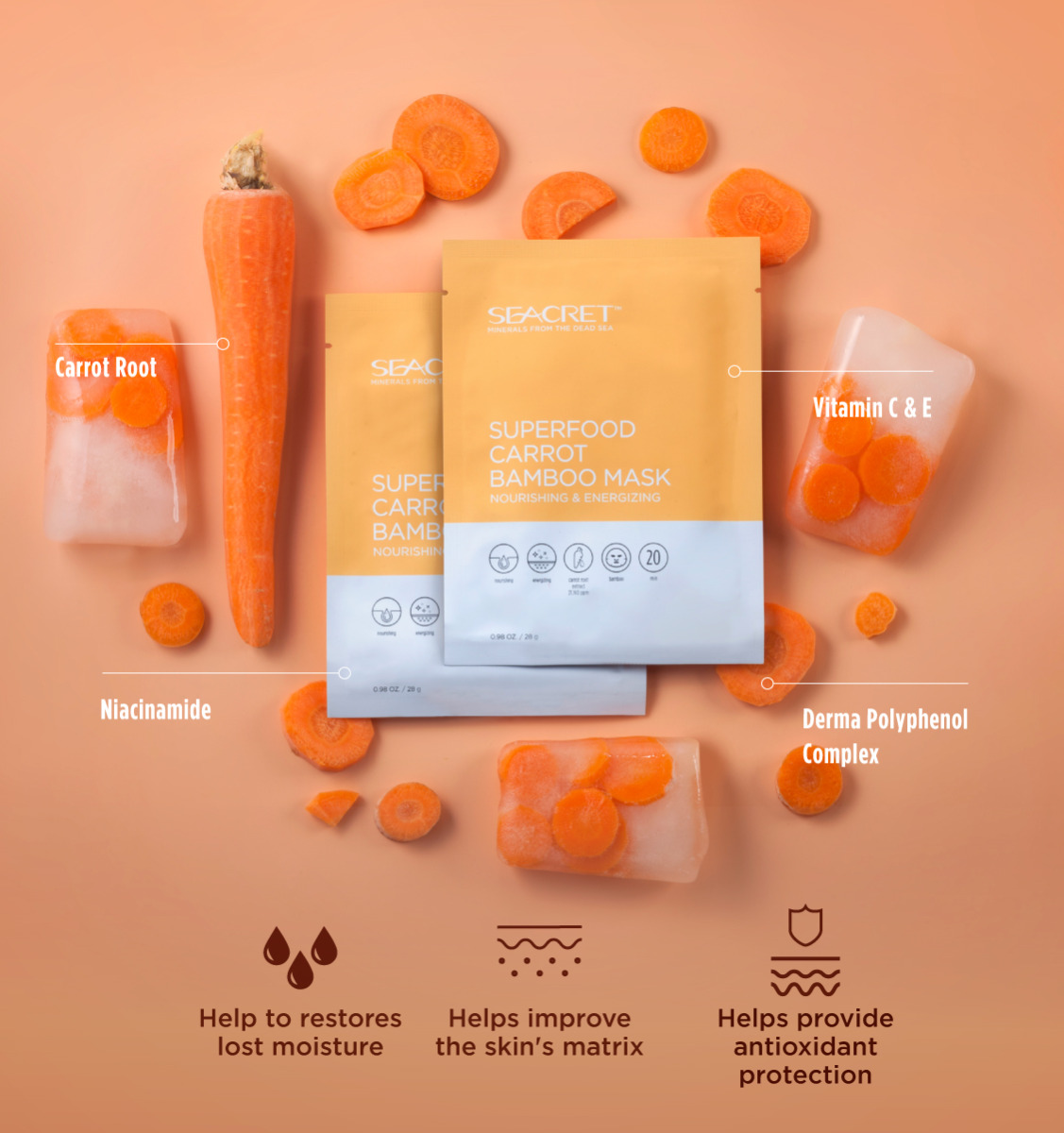 SuperFood Carrot Bamboo Mask